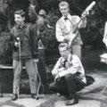 THE GAITERS met zanger Dré Rombouts uit Oudenbosch (1965). Hij werd hun manager.