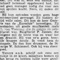 Krantenartikel ca. 1963