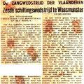 Belgische krant met een verslag van de zg schiftingsavond in Waasmunster
