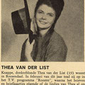Thea van der List (Tuney Tunes - november 1962)
