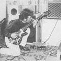 1964 Bassist Adrie Kommers met Framus bas en VOX AC30 twin