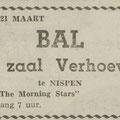 THE MORNING STARS - Dagblad de Stem - Zaal Verhoeven Nispen 19-3-1965