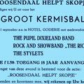 Hotel Goderie - Roosendaal helpt Skopje - Kermisbal 1 september 1963