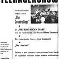 IFA raambiljet met aankondiging van optreden van The Country Boys op zaterdag  8 juli 1961 in zaal Crecendo aan de Roosendaalseweg te Etten. (collectie: Cees Luyten)
