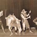 The Four Tielman Brothers - traditionele krijgsdans uit Timor - Hotel De Schuur, Breda 1957.