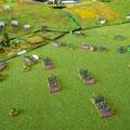 il IV corpo di Soult porta a compimento il suo obietivo, ma gli Austriaci tengono il villaggio di Pratzen; le truppe di Prebyshevsky sono decimate.