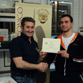 """Il """"Maresciallo"""" uscente, Franco Iacca, si congratula con il """"Maresciallo"""" 2010, Gabriele Tabacchini"""