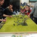 Alcune immagini della battaglia degli auguri, scattate dall'amico Fausto. (non svegliate Franco). Campo di battaglia da mt. 1,50 e 4 divisioni per parte