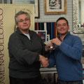 Fausto Cominato viene premiato per l'impegno profuso a dipingere le miniature che hanno ampliato la collezione del club. Grazie Fausto!!!!