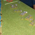 Napoleone impiega quasi tutta la sua cavalleria (pesante e leggera) a supporto di Lannes.A questo punto Kutuzov fà intervenire tutta la sua Riserva di Cavalleria.Ne nascerà uno sanguinoso scontro tra cavallerie