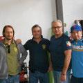 : i Francesi; da sx a dx: Silvio/Lannes+Bernadotte - Stefano/Napoleone - Fausto/Soult - Renzo/Davout