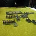 La cavalleria prussiana e la divisione di fanteria Russa