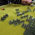Il momento più importante della battaglia: una divisione mista francese attacca sul fianco una divisione di fanteria prussiana