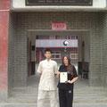 Mit Chen Hui Wu an Chen Bings Schule 2011- er half mir bei der Vorbereitung zum 4 Duan 2011