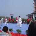 Performance der 4 Biddhawächter Chen Xiaowang, Chen Zhenglei, Wang Xian und Zhu Tiancai, Chenjiagou 8/2011