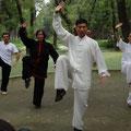Demonstration mit Chen Bing im Graben