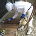 木部の磨き