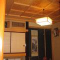 居間、天井を特にこだわっています(オリジナル格天井)
