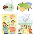 ゴルフスクールのポスター・パンフレット・レッスン用イラスト作成/個人様