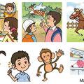 児童英検オンライン版シルバー 英検問題用イラスト