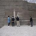 これが軟石の壁