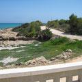 """Zona de la piscina, junto a la cala """" Puerto Azul"""",  Ada Edison Apartamento. www.adapeniscola-apartamentos.com"""