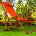 sdaio +legno +reclinabile +braccioli +arancio