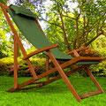 sdaio +legno +reclinabile +braccioli +verde