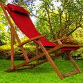 sdaio +legno +reclinabile +braccioli +rossa