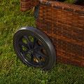 sdraio giardino rattan con ruote