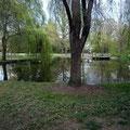 Mini Park mit kleinen Teich und Cafe