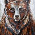 Ours - Huile sur toile - 81 x 100 cm - 2017