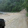 überall sind die Folgen des starken Regens zu sehen