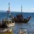 Schiffe am Titicacasee