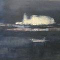 """""""Nocturne"""" #5, 2012 / acrylverf en pigment op linen doek / 73x92cm, price: by request"""