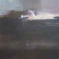 """""""Nocturne"""" #2, 2012 / acrylverf en pigment op linen doek / 45x45cm / verkocht"""