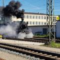 Abfahrt des ersten Sonderzug Umlaufes an diesem Tag nach Eichtätt Bahnhof
