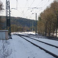 Freier Blick Richtung Bahnhof , Fotostelle an der neu gebauten Unterführung