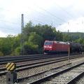 Zwischenzeitlich: Durchfahrt einenes Güterzuges Richtung Ingolstadt