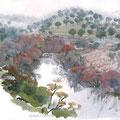 Sierra Morena, andujar, aquarelle