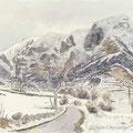 Chateauroux les alpes, 2003. pastel et aquarelle