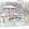 le moulin de Blaise sous Hauteville, Champagne janvier 2010
