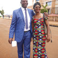 Israel Atouolognigni, gestionnaire de l'hopital de Mbouo et son épouse