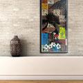 - stand up paddling, deine Welle - Größe 120 x 60 cm , Sylvio Zornsch, painting