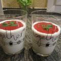 Erdbeerbuttermilch mit Minze