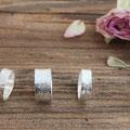 73) Silberringe 925 mit gehämmerter Struktur, schmal 85.- / breit 110.-
