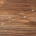 116) Halskette Gelbgold 750 mit Süsswasserperlen, 620.-