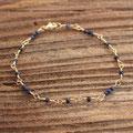 137) Armband Gelbgold 750 mit Saphiren, 380.-