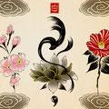 花 タトゥー 手の平サイズ ¥35,000-