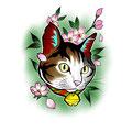 猫 タトゥー B5サイズ ¥50,000-
